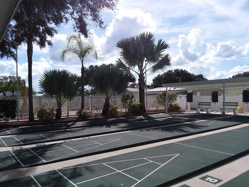 Photo of 4 shuffle board courts